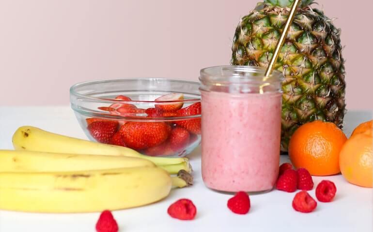 Banana juice for healthy immune