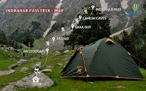 Indrahar Pass trek map