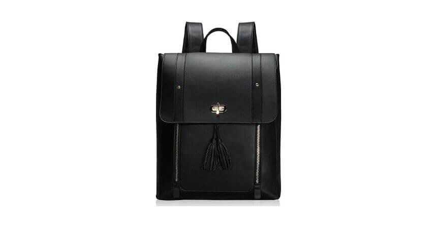 Estarer PU Leather Women LaptopBackpack (Upgraded Version)