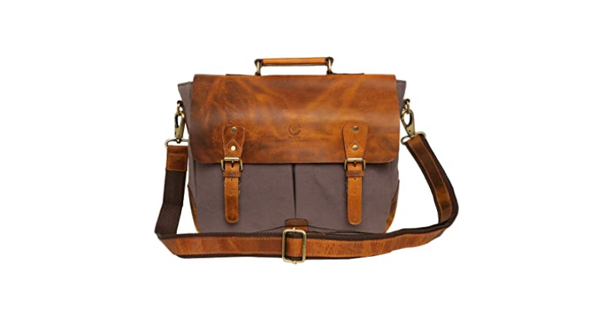Rustic Town Leather Messenger Bag