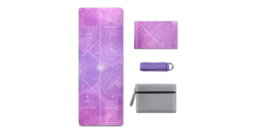 KUYOU Yoga Mat Foldable Non-Slip Travel Yoga Mat