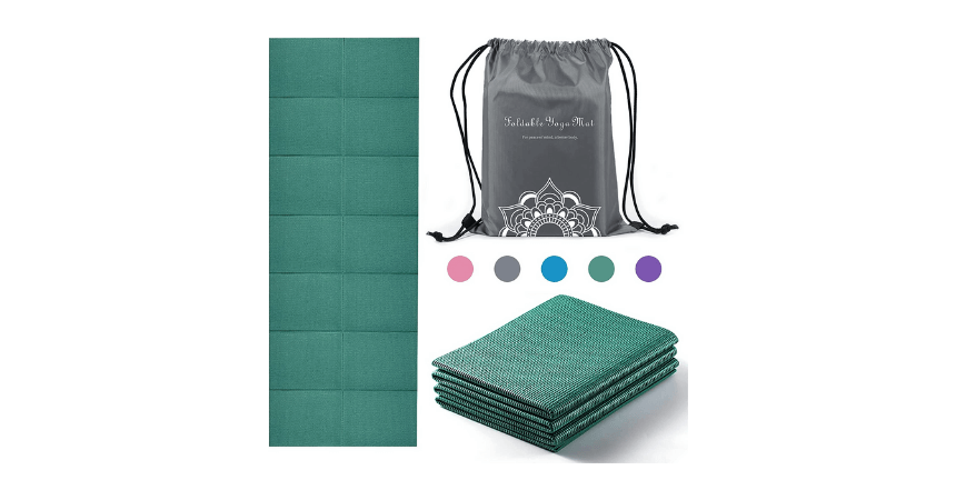 Rywell foldable eco-friendly travel yoga mat